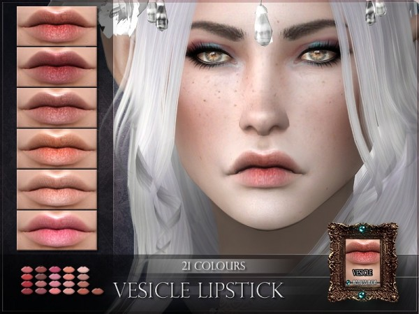 The Sims Resource: Vesicle Lipstick by RemusSirion