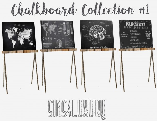 Sims4Luxury: Chalboard Collection 1