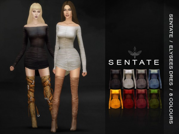 The Sims Resource: Elysees Dress by Sentate