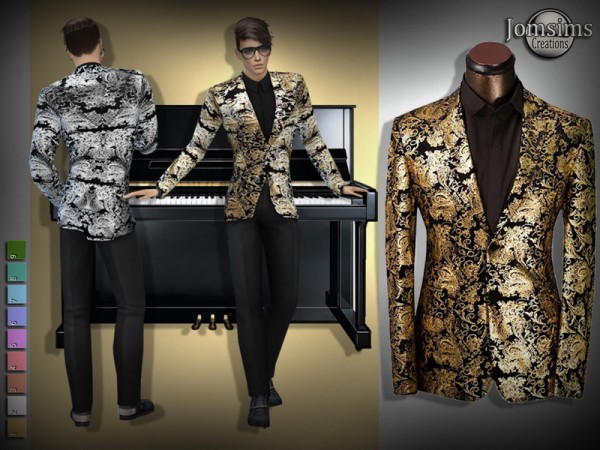 The Sims Resource: Brandon evening jacket, pants and shirt by jomsims