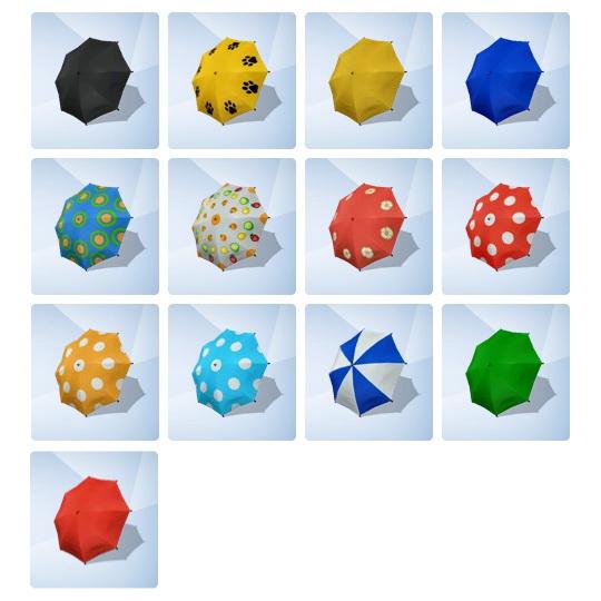 Simsworkshop: ACNL Umbrella Recolors by catsblob