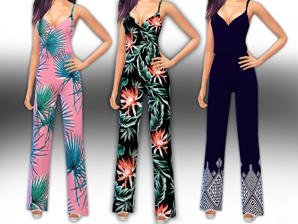 The Sims Resource: Summer Trendy Jumpsuits by Saliwa