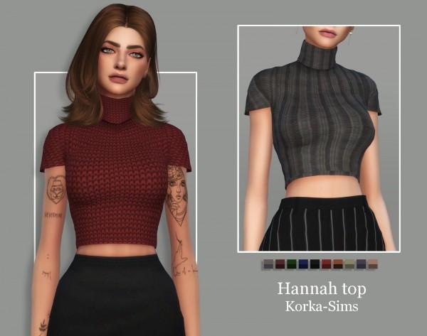 Korka Sims: Hannah top