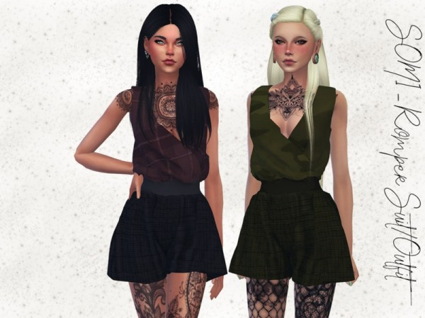The Sims Resource: SOMI   Romper Suit by Reevaly