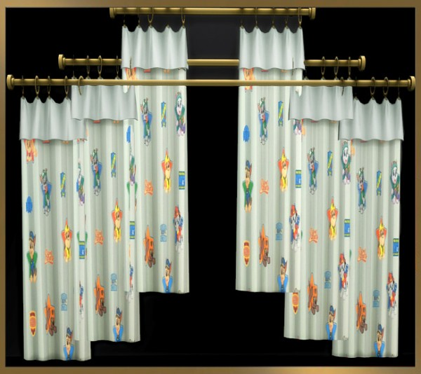 Blackys Sims 4 Zoo: Season curtains for kids by weckermaus