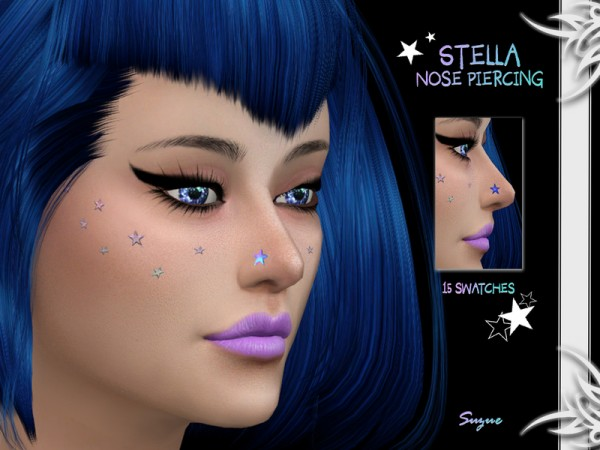 The Sims Resource: Stella Nose Piercing by Suzue