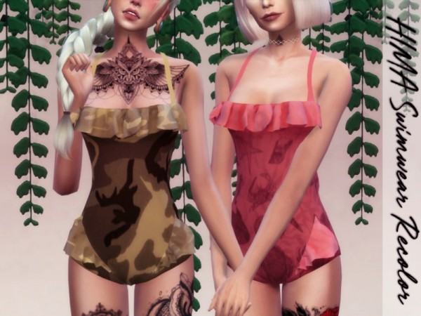 The Sims Resource: HIMA   Swimwear Recolored by Reevaly