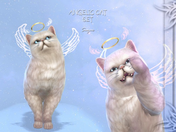 The Sims Resource: Angelic Cat Set by Suzue