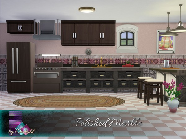 The Sims Resource: Polished Marble walls by emerald