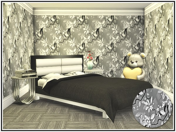 The Sims Resource: Florals in Grey Walls by marcorse