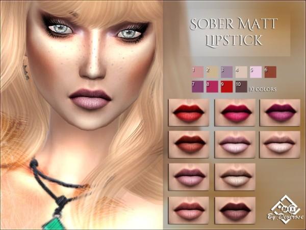 The Sims Resource: Sober Matt Lipstick by Devirose