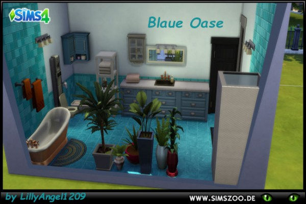 Blackys Sims 4 Zoo: Bathroom Blue Oasis by LillyAngel1209