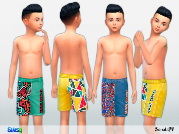 The Sims Resource: Swim trunks for boys by Sonata77