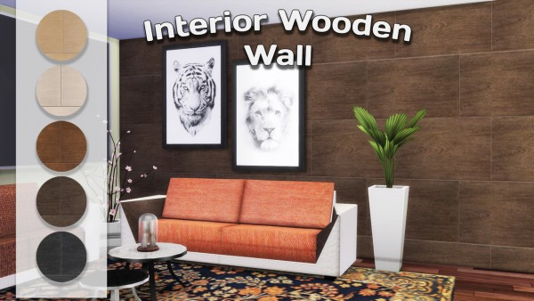 Simming With Mary: Interior Wooden Wall and bricks