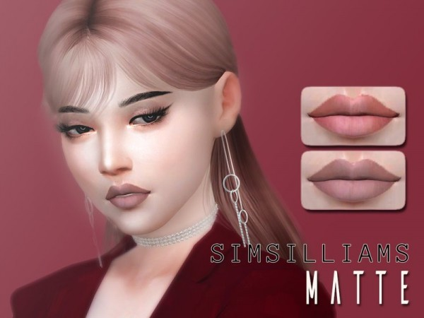 The Sims Resource: Matte Lipstick by Simsilliams