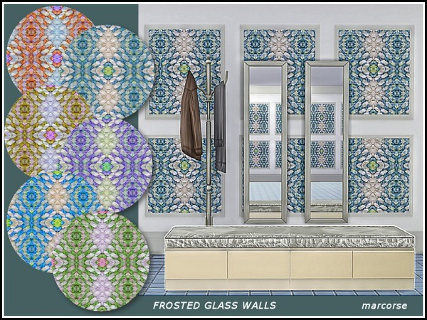 The Sims Resource: Frosted Glass Walls by marcorse
