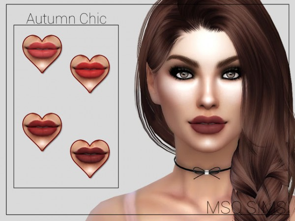 MSQ Sims: Autumn Chic Lipstick