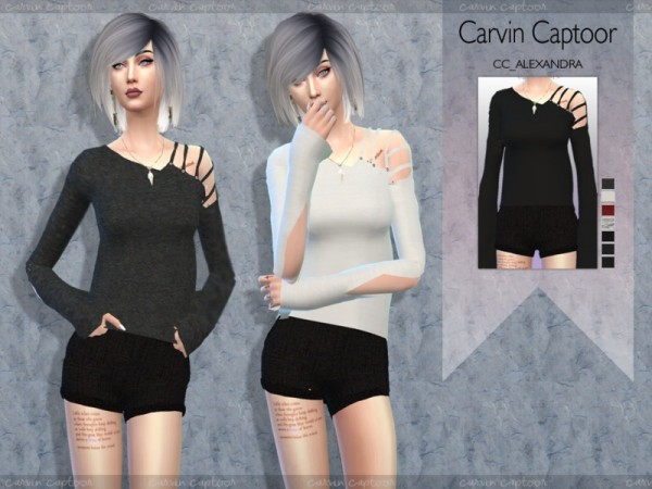 The Sims Resource: Alexandra top by carvin captoor