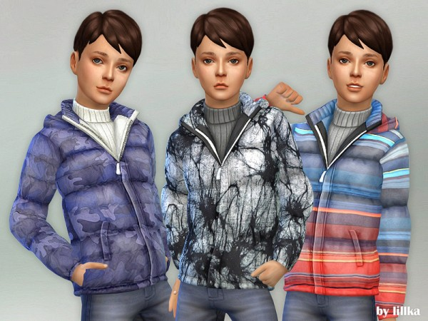 The Sims Resource: Winter Jacket for Boys by lillka