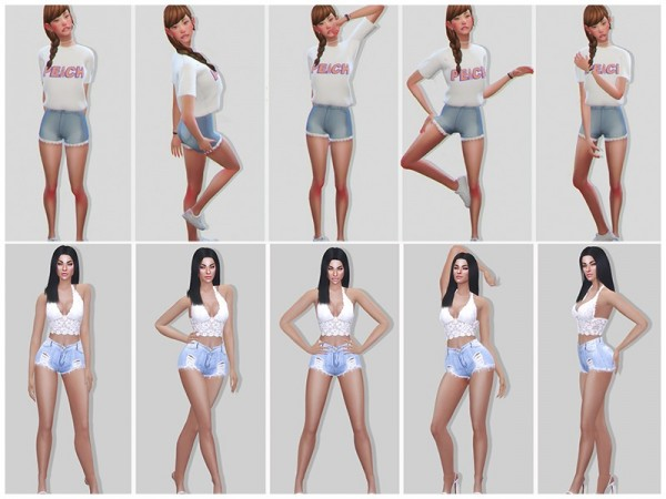 The Sims Resource: StarVerse Modeling Poses by KatVerseCC