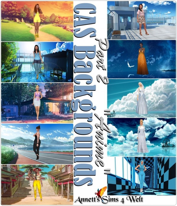 Annett`s Sims 4 Welt: CAS Backgrounds Anime   Part 2