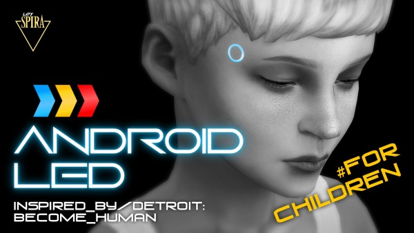 Mod The Sims: Glowing Android LEDs by LadySpira
