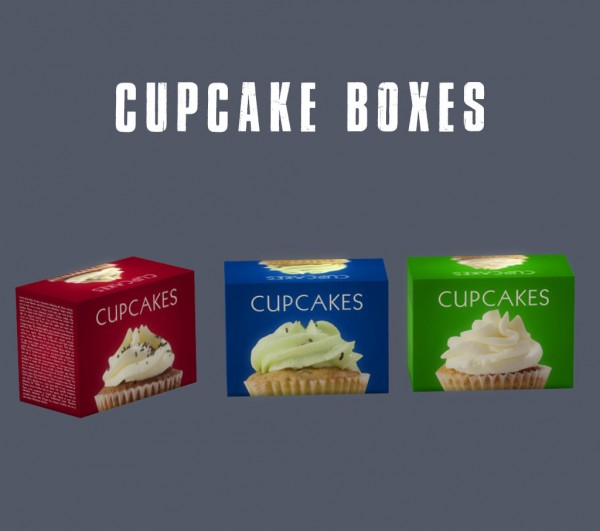 Leo 4 Sims: Cupcake boxes