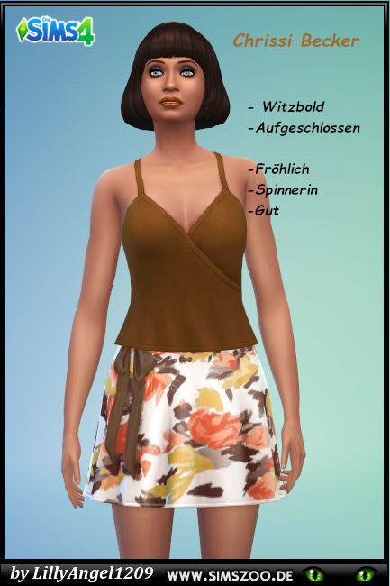 Blackys Sims 4 Zoo: Chrissi Becker by  LillyAngel1209