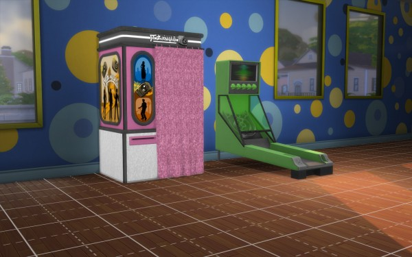 Mod The Sims: Skee Ball and Photo Booth by fire2icewitch