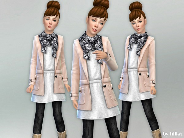 The Sims Resource: Fall Outfit for Girls 01 by lillka