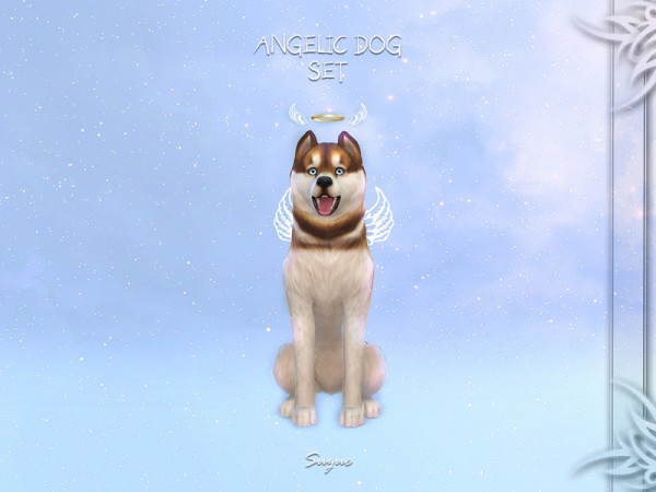 The Sims Resource: Angelic Dog Set by Suzue