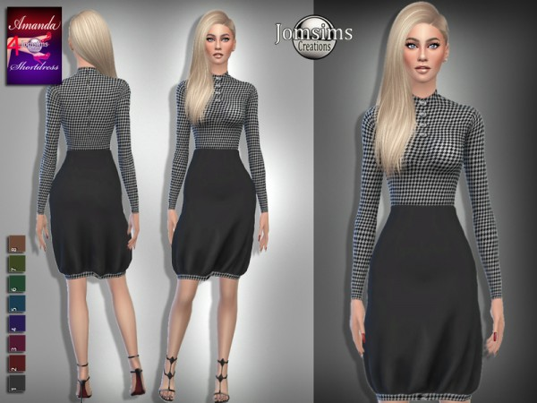The Sims Resource: Amanda short dress 4 by jomsims