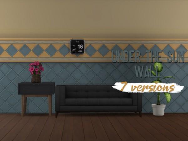 Simsworkshop: Down Under The Sun Walls by midnightskysims