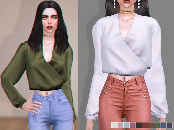 The Sims Resource: Nora   Blouse by Screaming Mustard