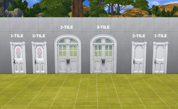 Simplistic: Centred Flower Power Doors