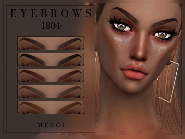 The Sims Resource: Eyebrows 1804 by Merci