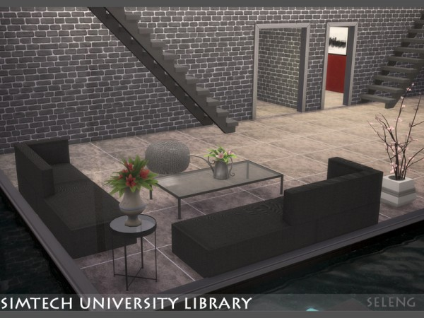 The Sims Resource: Sim tech Uni Library by Seleng