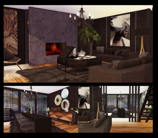 Liily Sims Desing: Black House