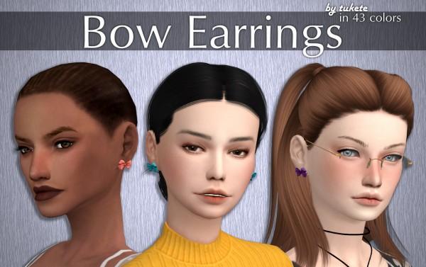Tukete: Bow Earrings