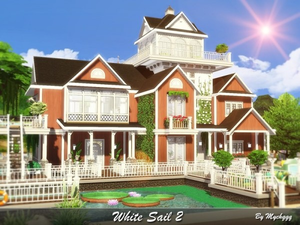 The Sims Resource: White Sail 2 house by MychQQQ