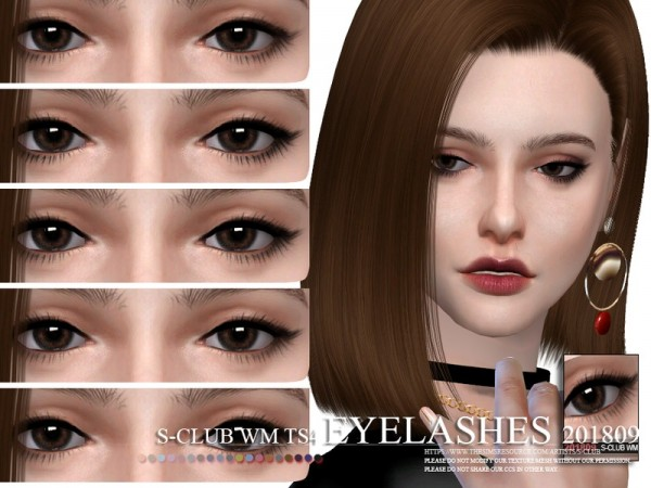 The Sims Resource: Eyelashes 201809 by S Club
