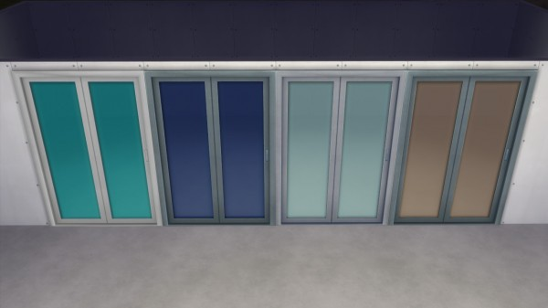 Mod The Sims: Folding Steel Glass Door by AshenSeaced