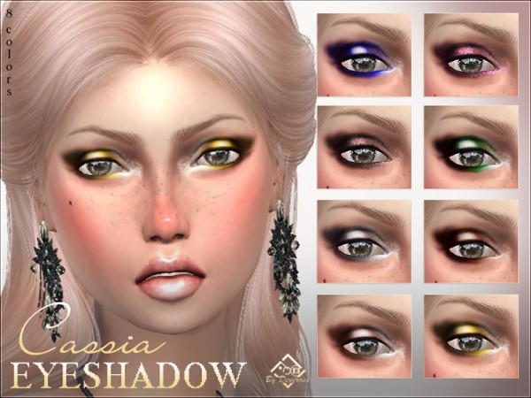 The Sims Resource: Cassia Eyeshadow by Devirose