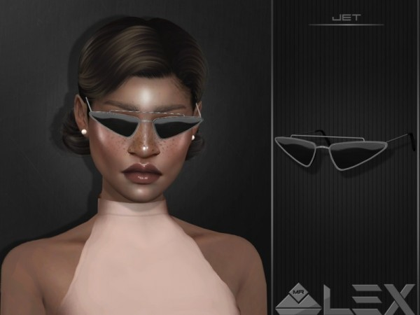 The Sims Resource: Jet sunglasses by Mr.Alex