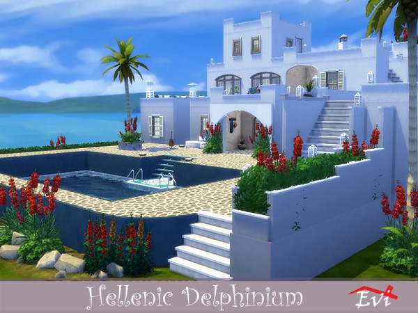 The Sims Resource: Hellenic delphinium house by evi