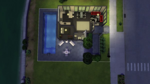Mod The Sims: Mini Modern Luxury Home  by Hagraven