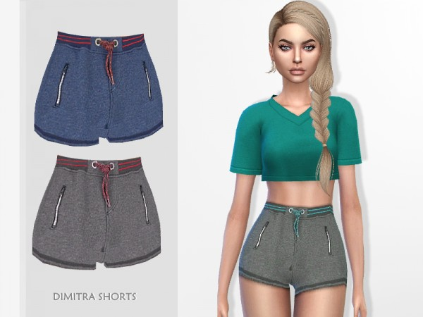 The Sims Resource: Dimitra Shorts by Puresim