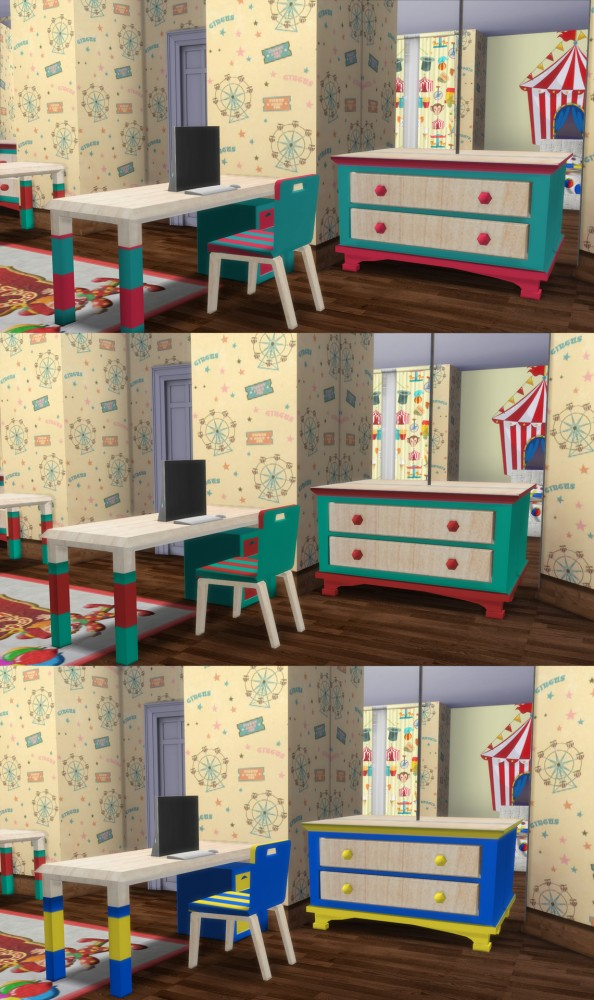 Simming With Mary: Circus Kidsroom Set