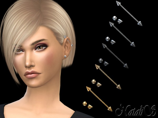The Sims Resource: Industrial ear piercing v2 left by NataliS