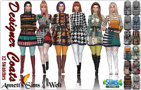 Annett`s Sims 4 Welt: Designer Coats